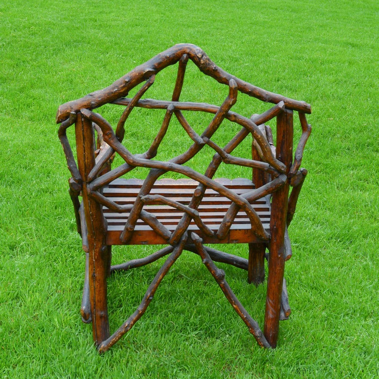 19th Century Rustic English Armchair For Sale