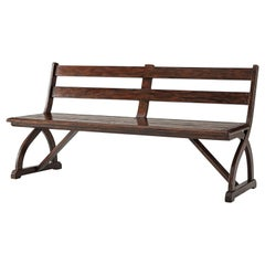 Rustic English Country Bench