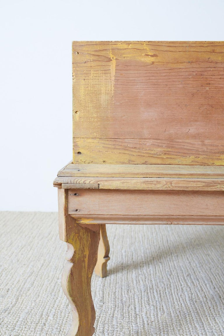 Rustic English Pine Coffer Chest on Stand For Sale 5