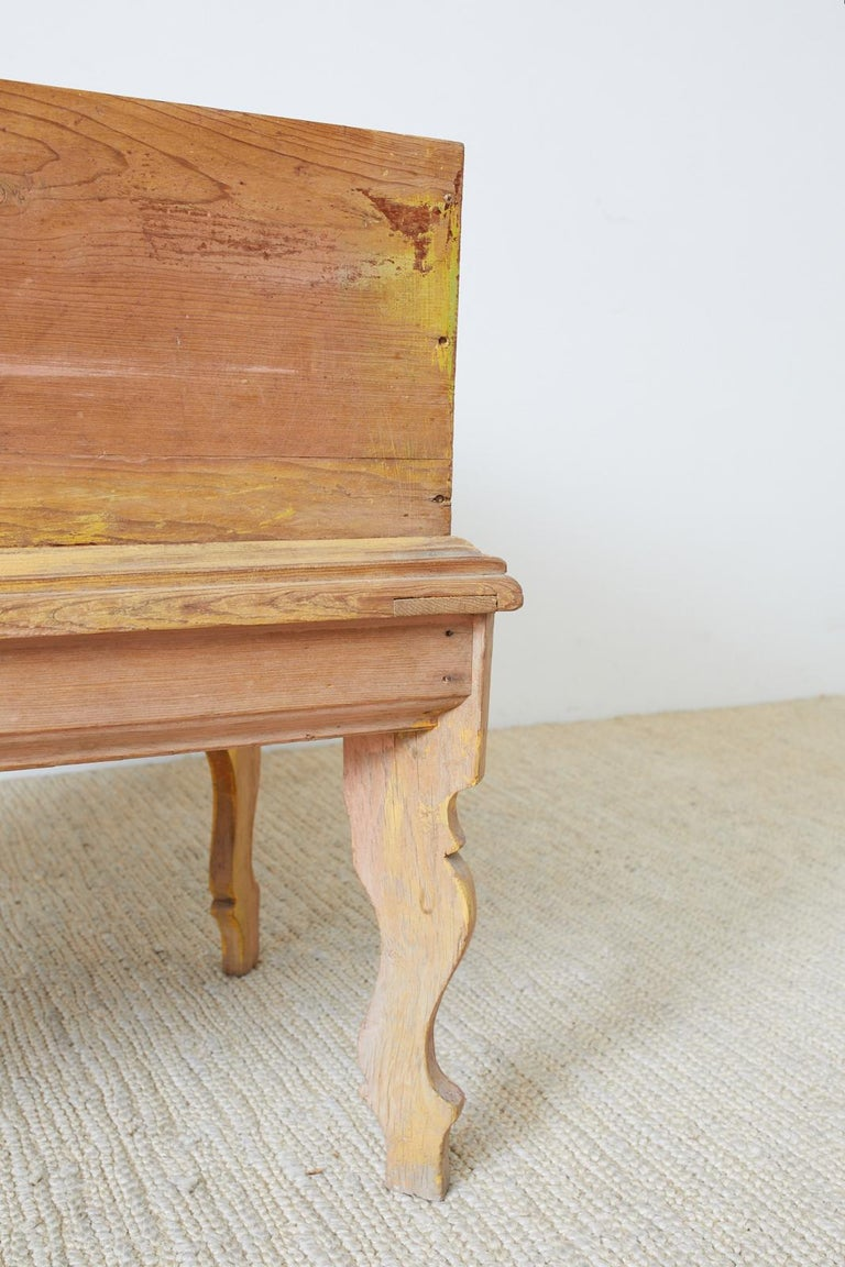 Rustic English Pine Coffer Chest on Stand For Sale 4