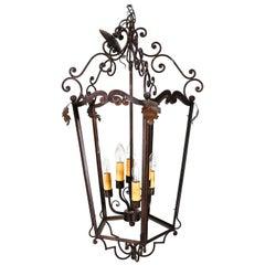 Rustic European Style Large Hanging Lantern
