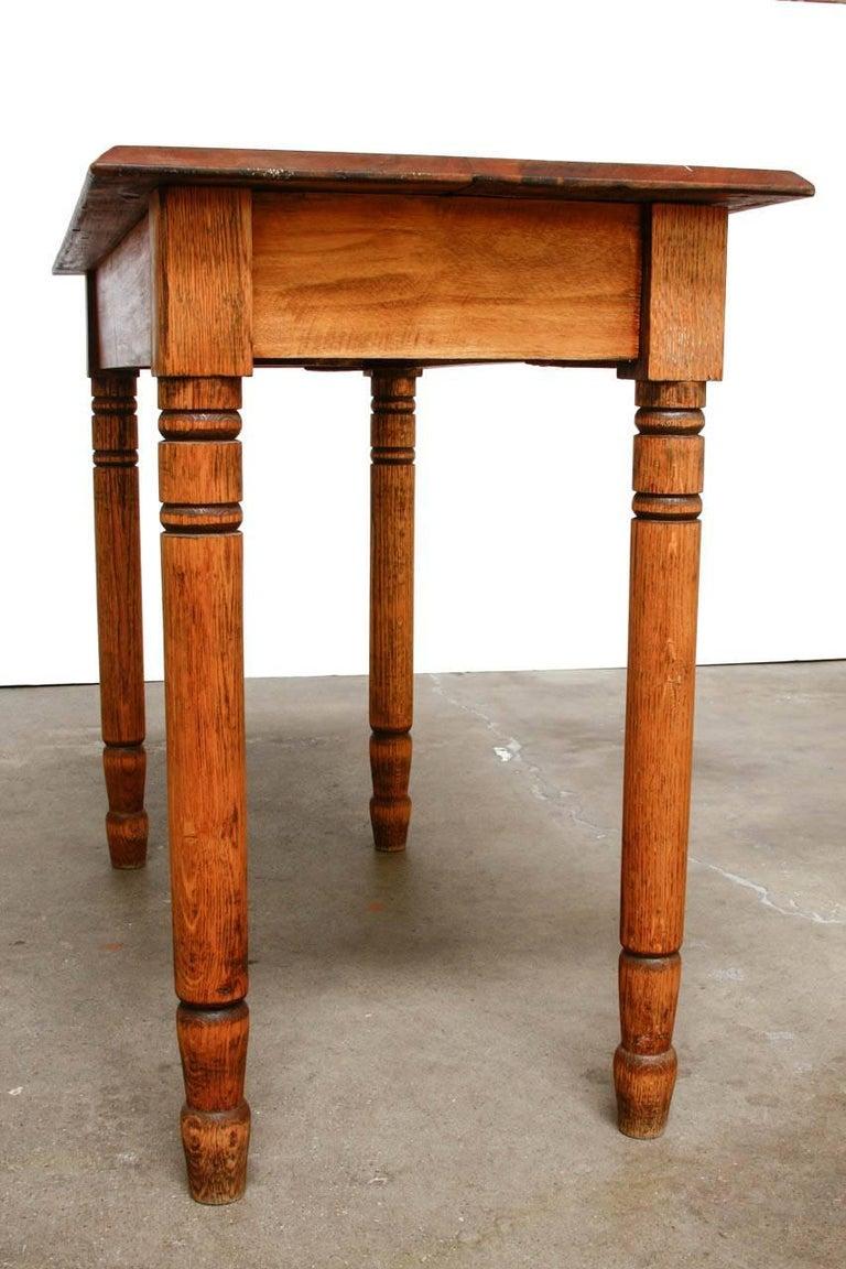 Rustic Farmhouse Oak Work Table or Console For Sale 4