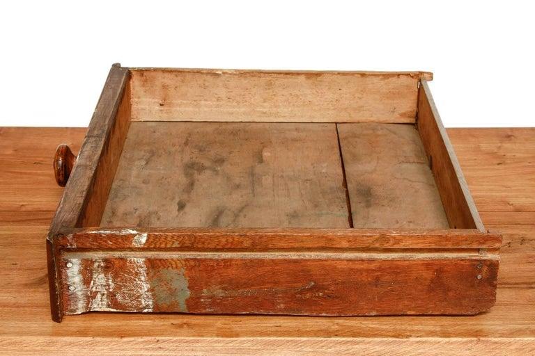 Rustic Farmhouse Oak Work Table or Console For Sale 8