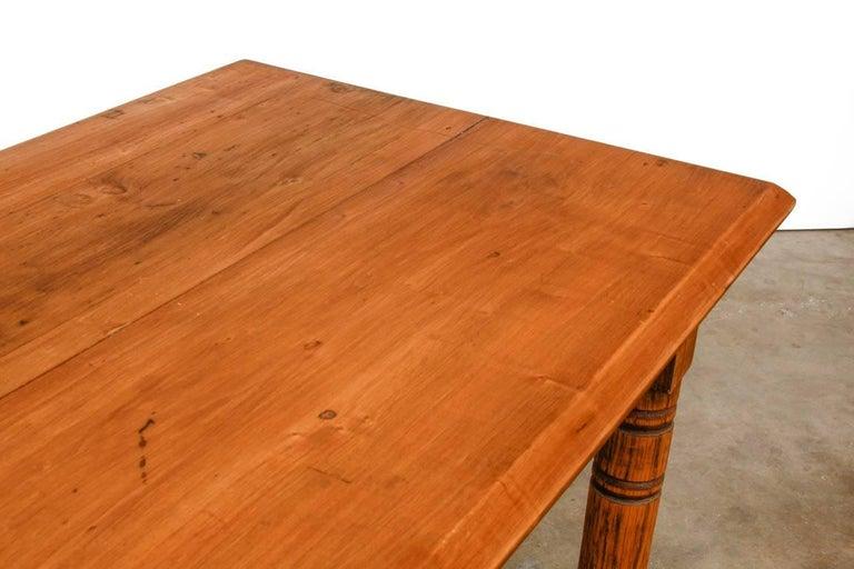 Rustic Farmhouse Oak Work Table or Console For Sale 1