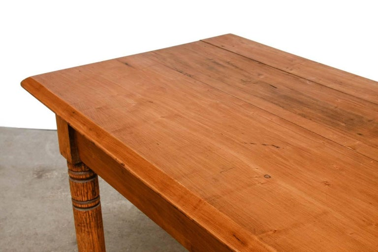 Rustic Farmhouse Oak Work Table or Console For Sale 2