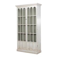 Rustic Farmhouse Style Whitewashed Bookcase
