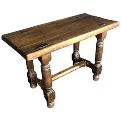 Rustic French 19th Century Oak Bench