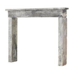 Rustic French Antique Reclaimed Farm House Limestone Fireplace Surround