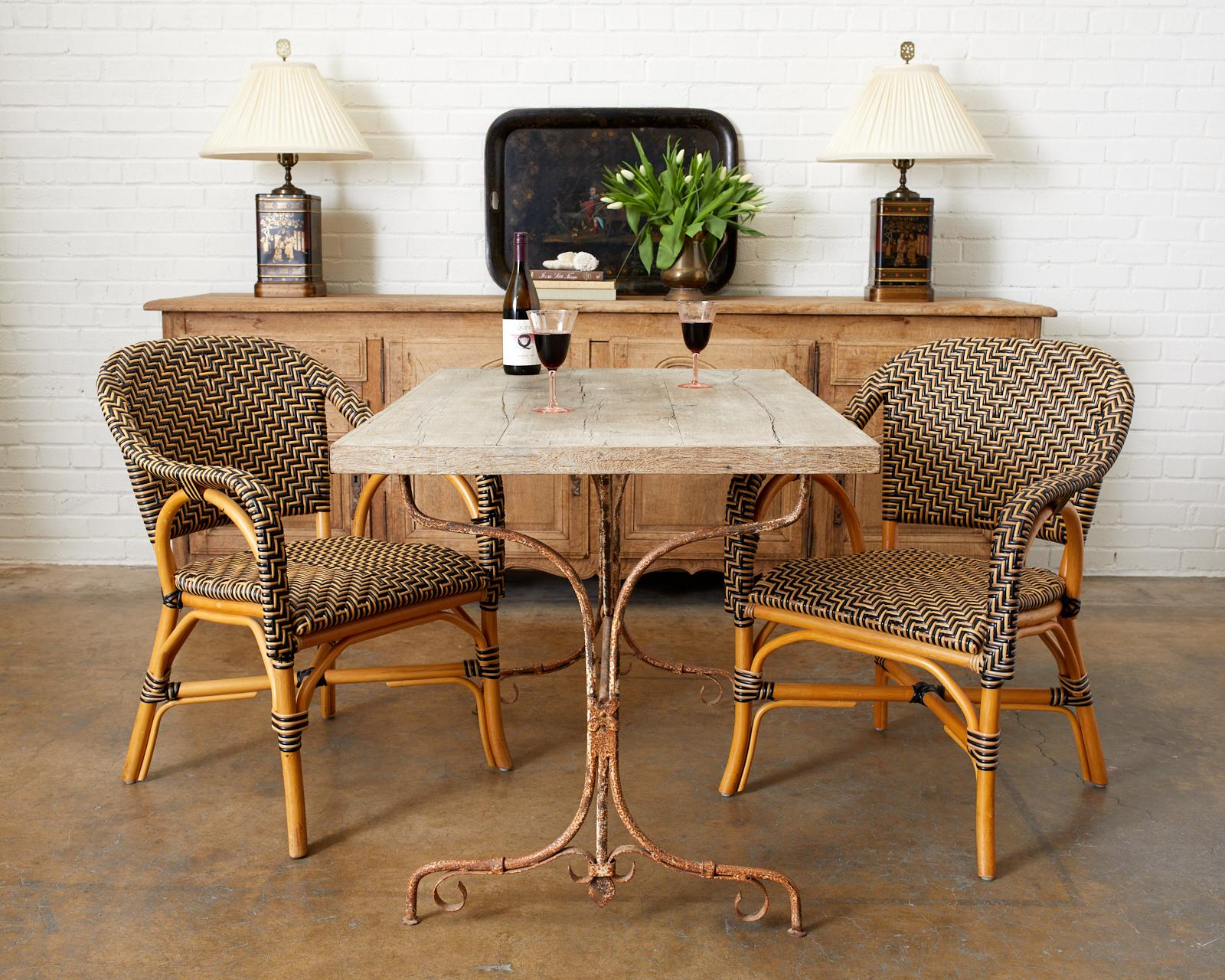 Rustic French Bistro Style Dining Table, Bistro Style Dining Room Sets