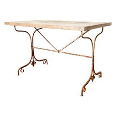 Rustic French Bistro Style Dining Table or Console