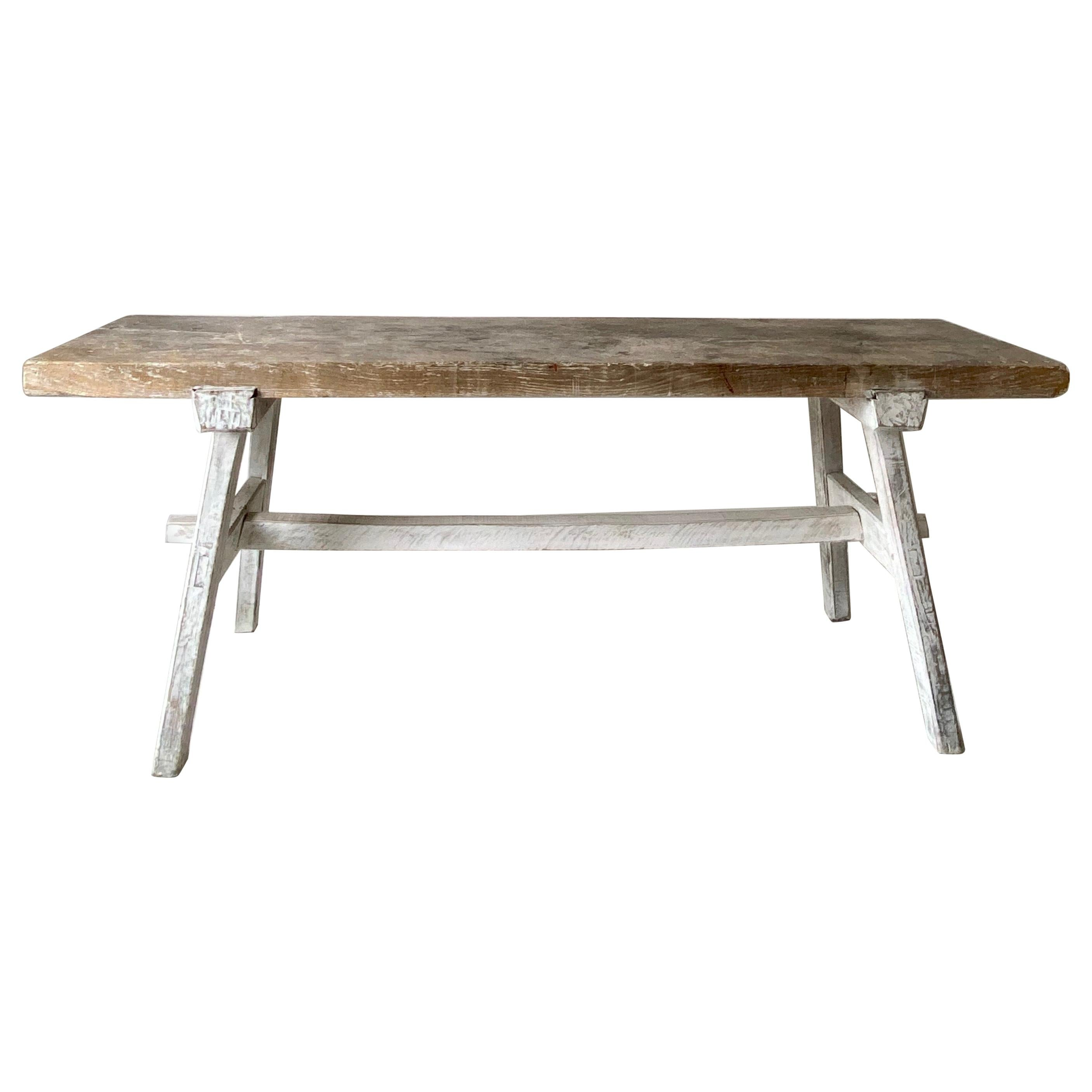 Rustic French Country Farmhouse Table Console