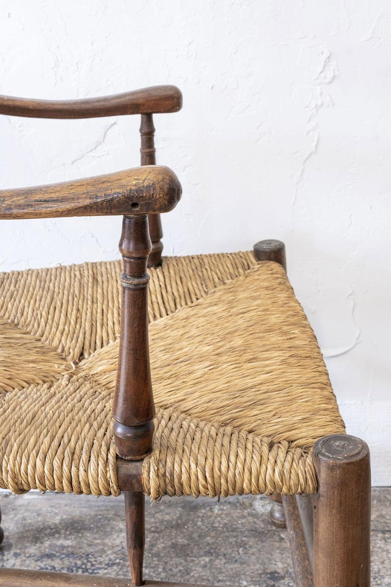 Rustic French Ladder Back Armchair For Sale 3