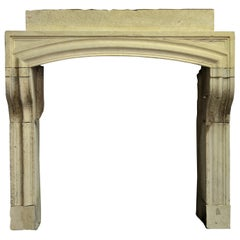 Rustic French Louis XIV Fireplace Mantel
