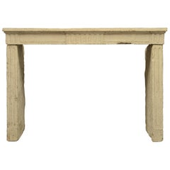Rustic French Louis XVI Fireplace Mantel