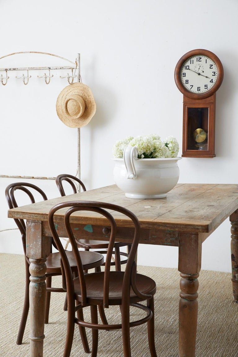 Rustic French Pine Country Farmhouse Dining Table For Sale 2