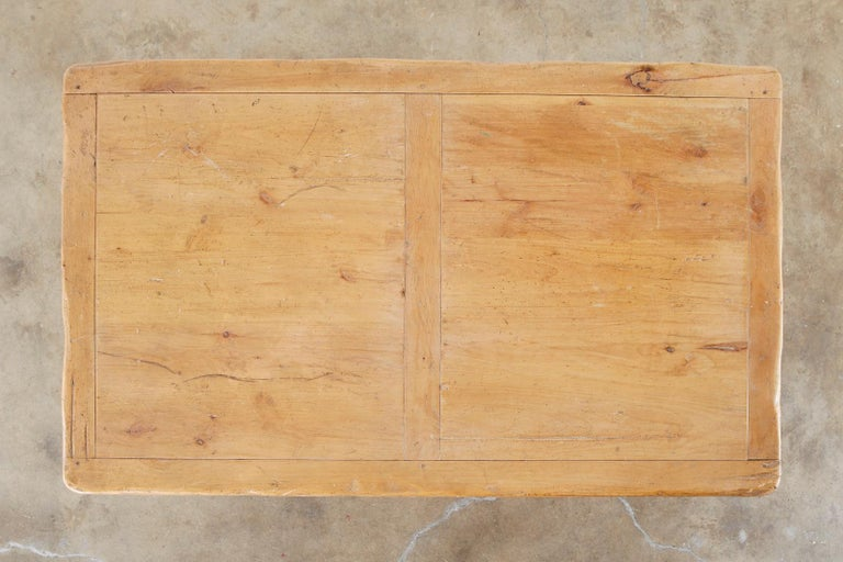 Rustic French Provincial Style Pine Farmhouse Dining Table For Sale 5