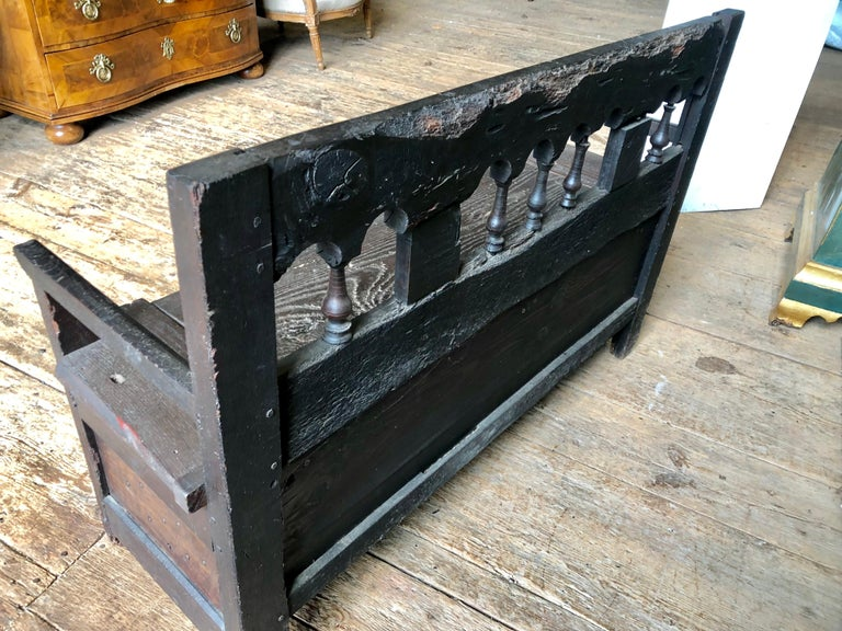 Rustic French Storage Bench For Sale 4