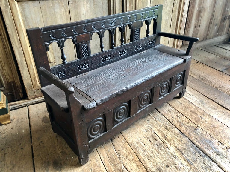 Rustic French Storage Bench For Sale 5