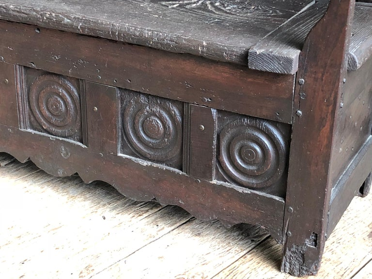 French Provincial Rustic French Storage Bench For Sale