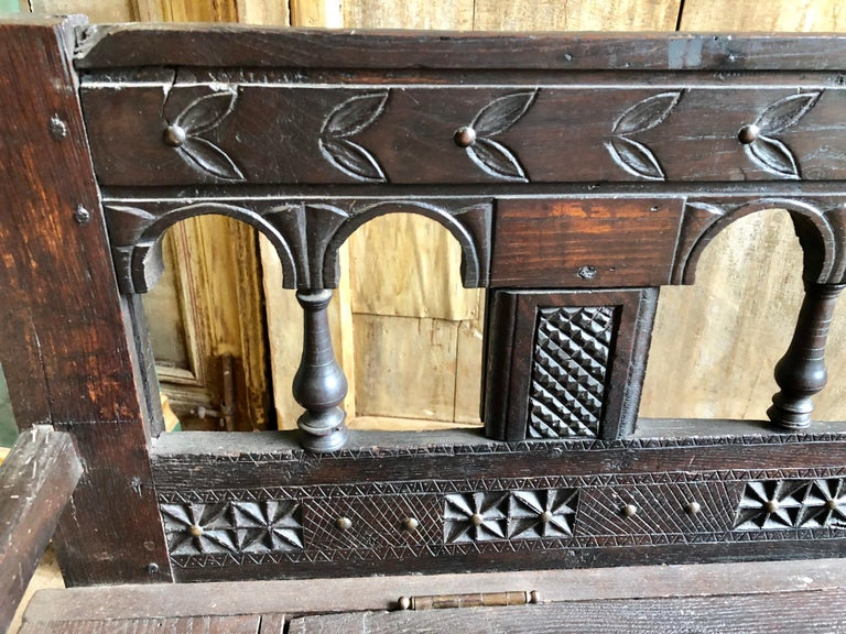 Rustic French Storage Bench For Sale 1