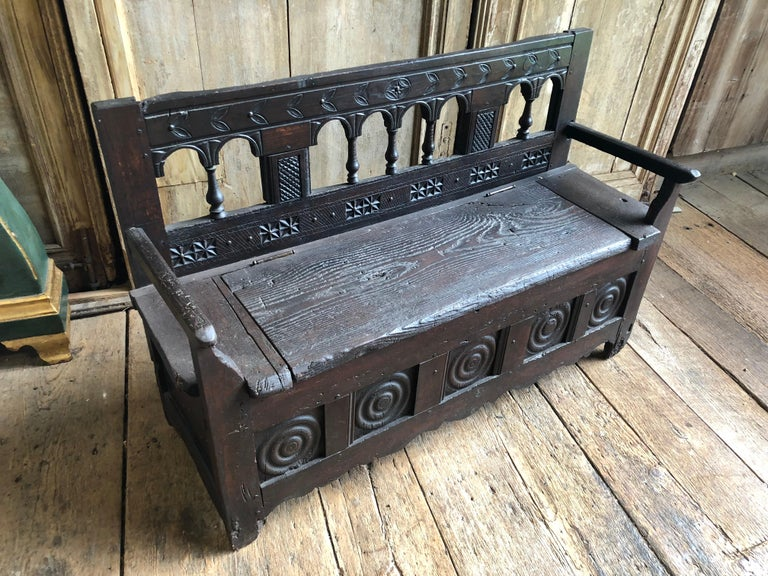 Rustic French Storage Bench For Sale 2