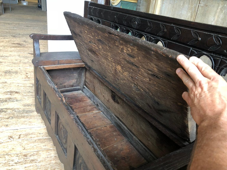 Rustic French Storage Bench For Sale 3