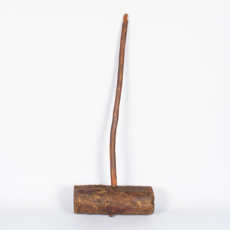 Rustic French Wooden Sledgehammer, Early 1900s For Sale 5