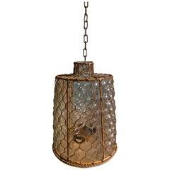 Rustic Glass Cage Lantern