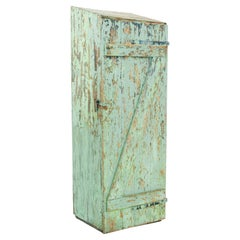 Rustic Green Patinated Wooden Locker