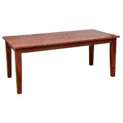 Rustic Hewn Farm Table