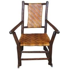 Rustic Hickory Furniture Company Rocking Armchair No. 21 Rocker Adirondak Lodge