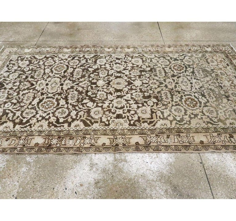 Rustic Mid-20th Century Handmade Persian Malayer Gallery Accent Rug For Sale 2