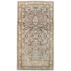 Rustic Mid-20th Century Handmade Persian Malayer Gallery Accent Rug