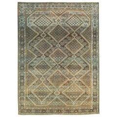 Rustic Mid-20th Century Handmade Persian Afshar Accent Rug