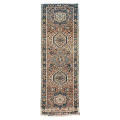 Rustic Mid-20th Century Handmade Persian Karajeh Small Runner