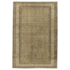 Rustic Mid-20th Century Handmade Persian Malayer Small Room Size Accent Rug