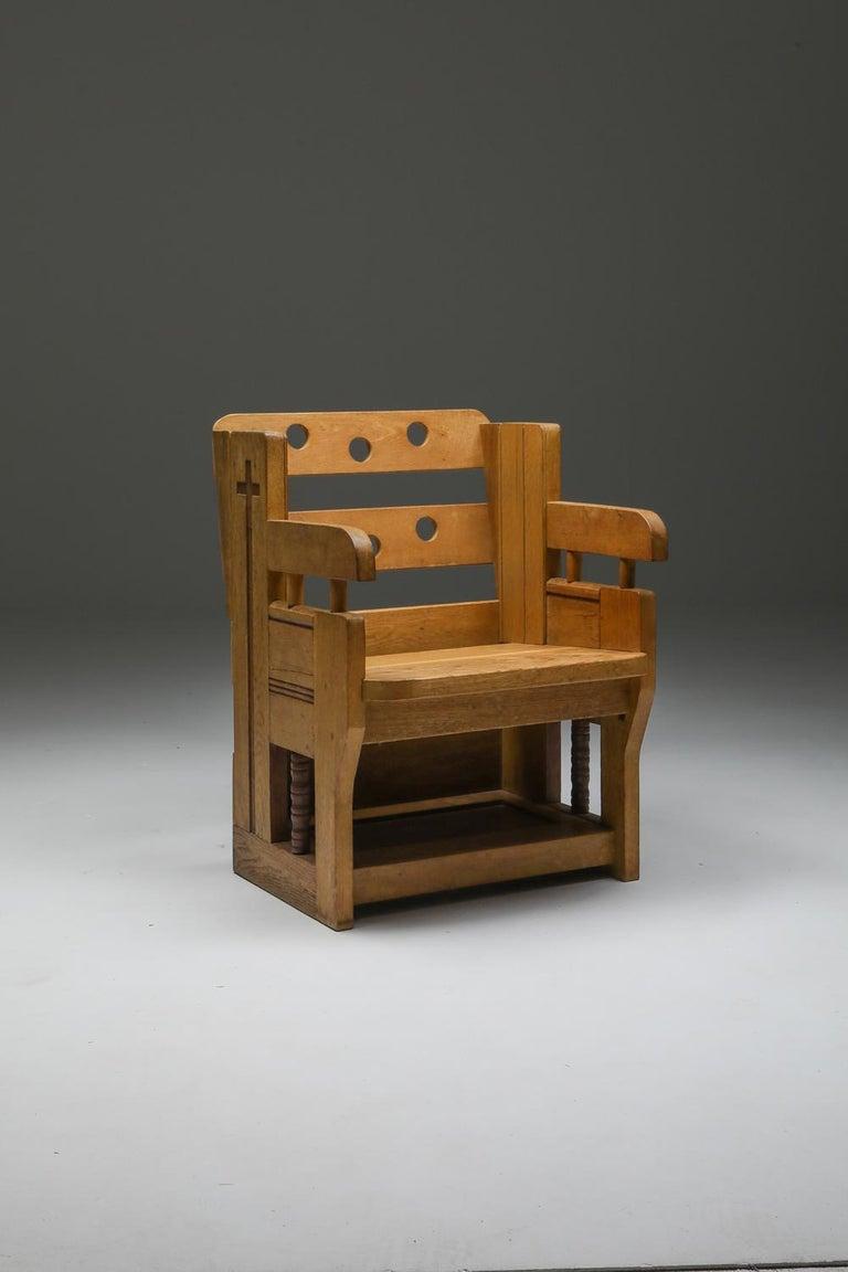 Rustic Modern Armchair in Oak 5