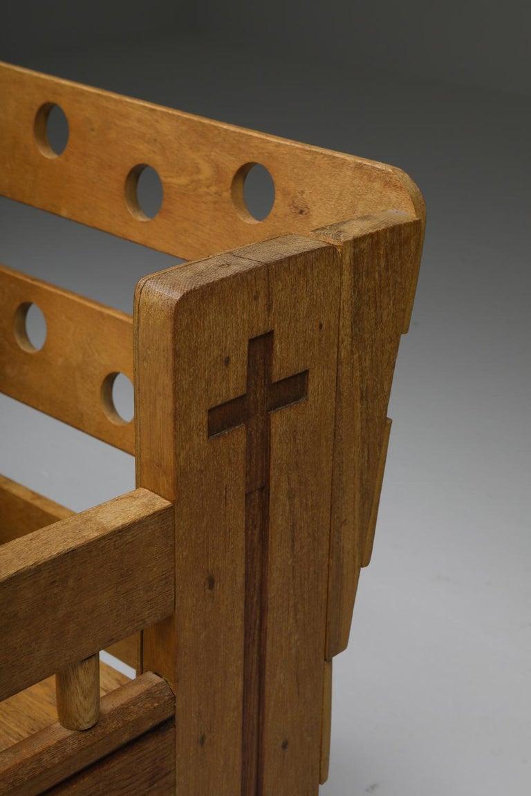 Rustic Modern Armchair in Oak 6