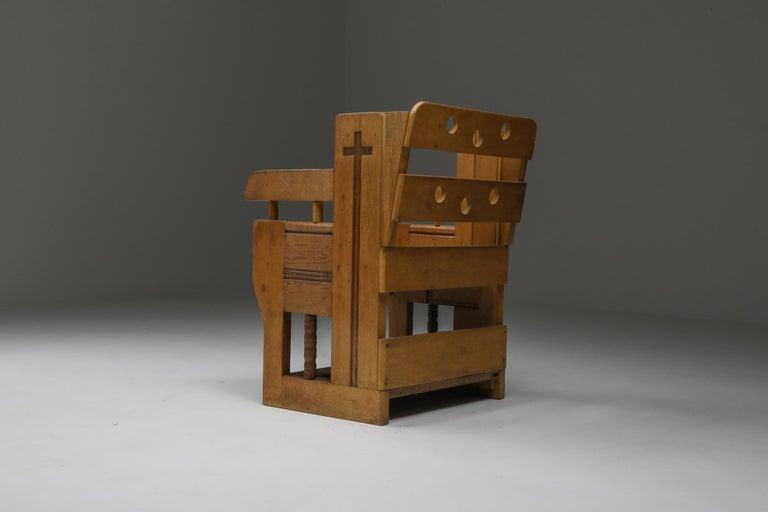 Rustic Modern Armchair in Oak 1