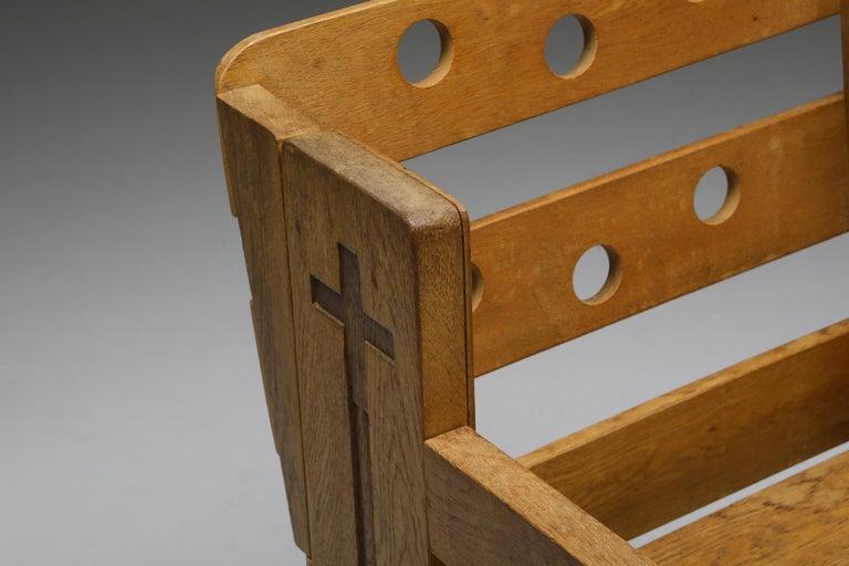 Rustic Modern Armchair in Oak 2