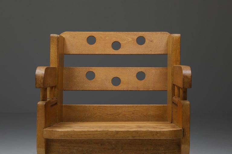 Rustic Modern Armchair in Oak 3
