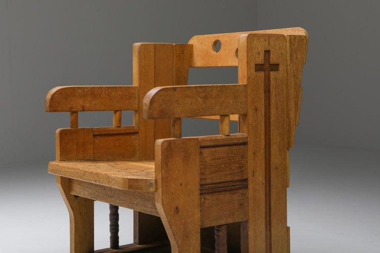 Rustic Modern Armchair in Oak 4