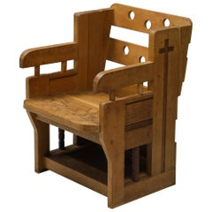 Rustic Modern Armchair in Oak