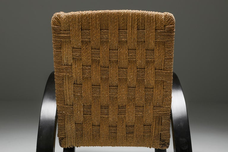 Rustic Modern Armchairs with Ottoman For Sale 4