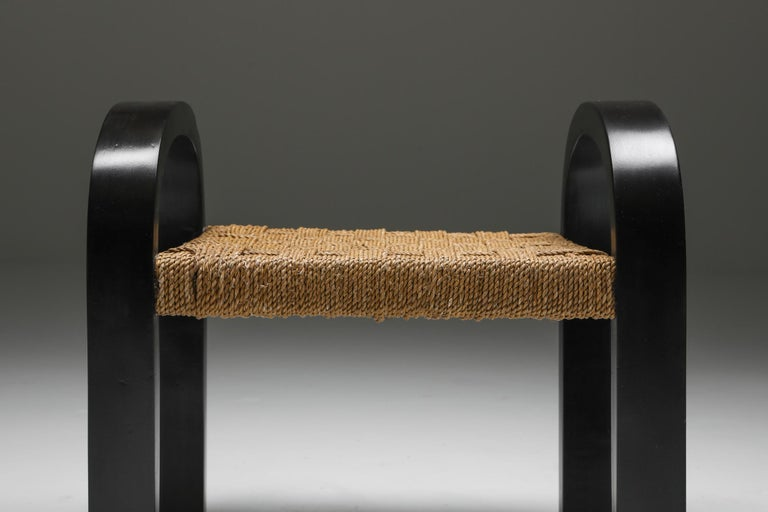 Rustic Modern Armchairs with Ottoman For Sale 5