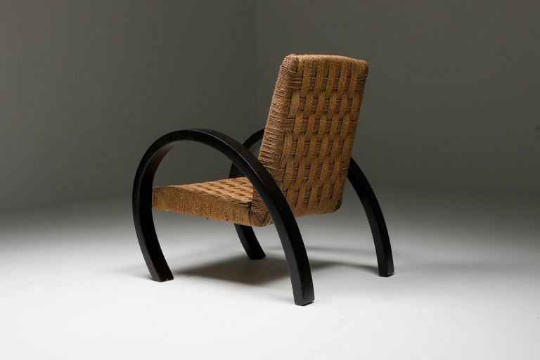 Rustic Modern Armchairs with Ottoman For Sale 1