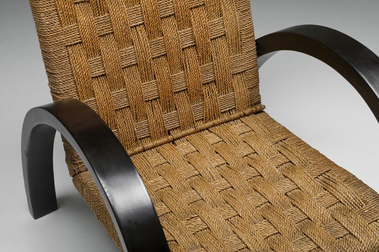Rustic Modern Armchairs with Ottoman For Sale 3