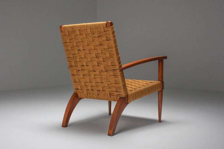 Mid-20th Century Rustic Modern Audoux Minet Armchairs For Sale