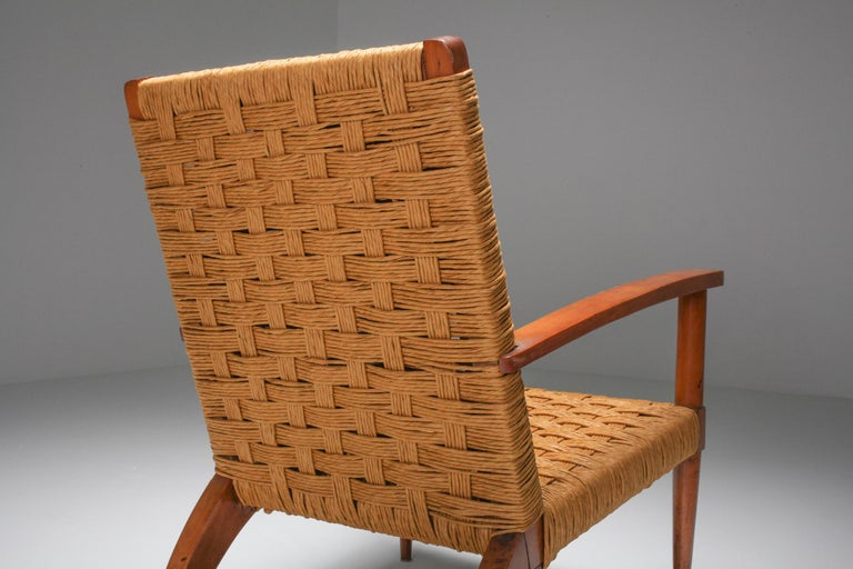 Rustic Modern Audoux Minet Armchairs For Sale 2