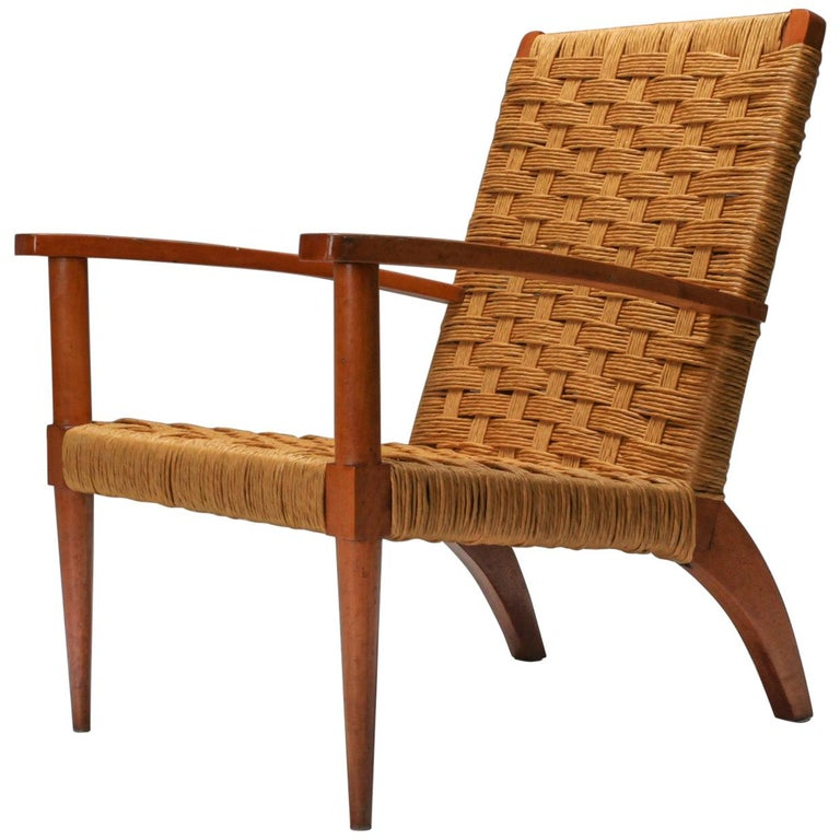 Rustic Modern Audoux Minet Armchairs For Sale